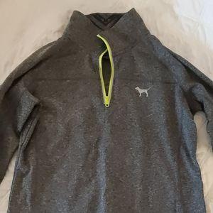 EUC. Grey quarter zip pullover.